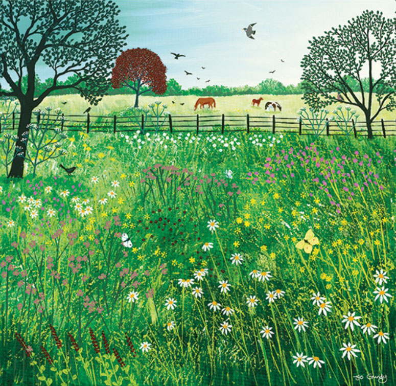Jo Grundy - Summer Grazing / Print size: 300 x 290 mm