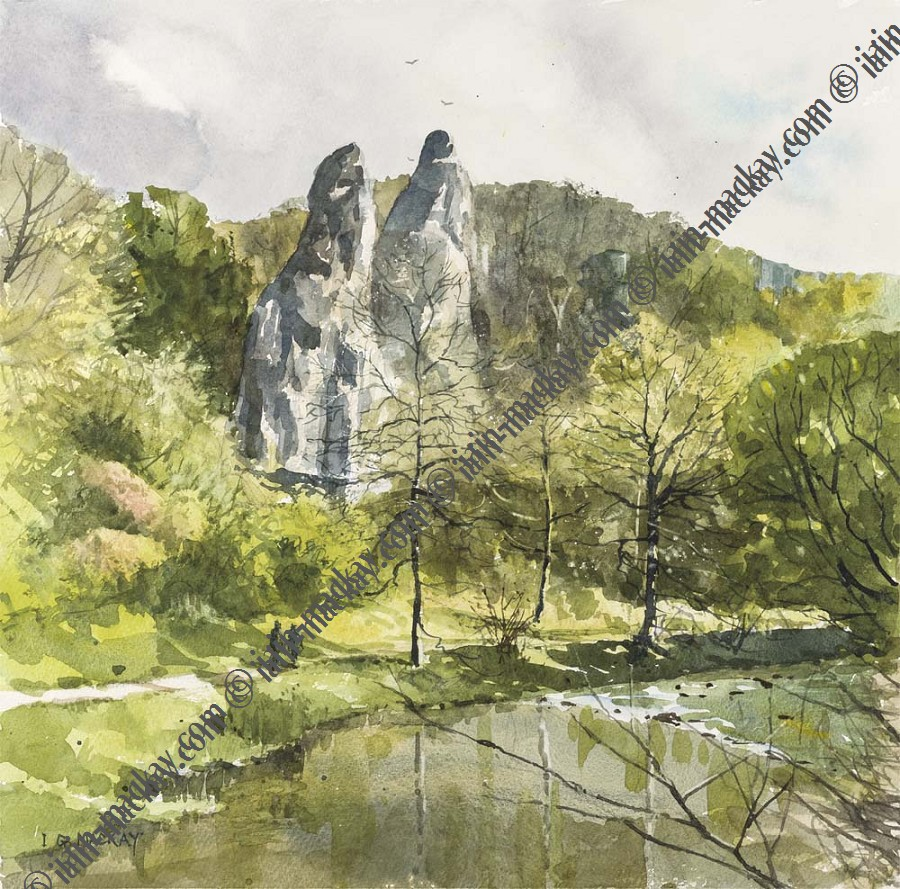 Pickering Tor, Dovedale McKay / Print size: 190 x 205 mm