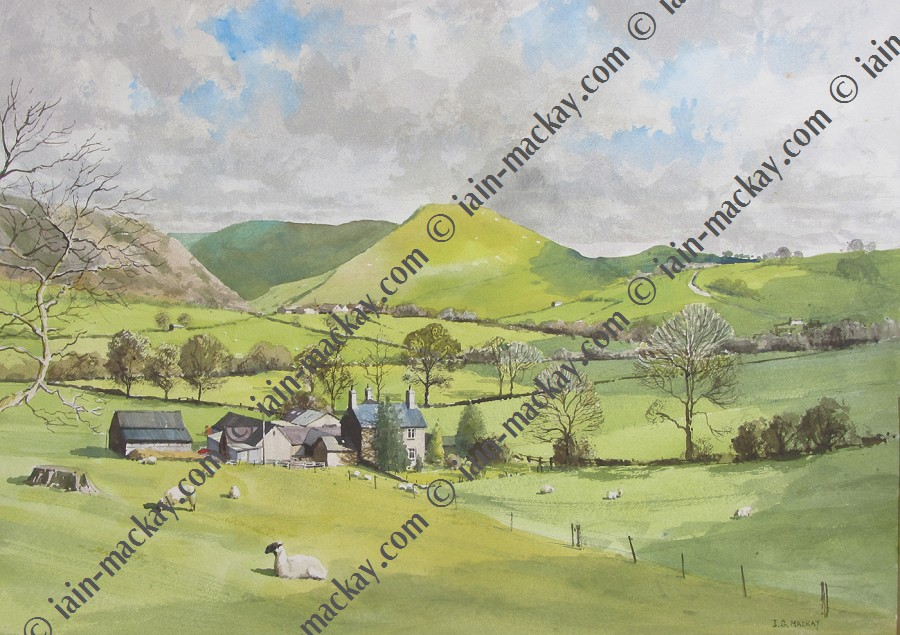 Thorpe Cloud from the West - Iain Mckay / Print size: 400 x 280 mm