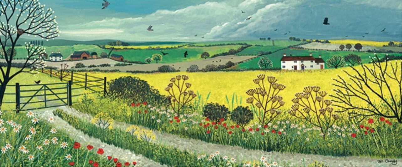 Jo Grundy - Canola Fields / Print size: 870 x 350 mm