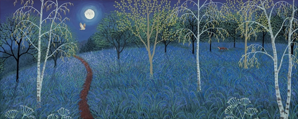 Jo Grundy - Blue Moon / Print size: 870 x 350 mm