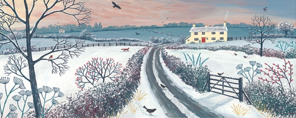 Jo Grundy - Coming Home for Winter / Print size: 870 x 350 mm