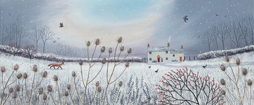 Jo Grundy - First Snow / Print size: 870 x 350 mm