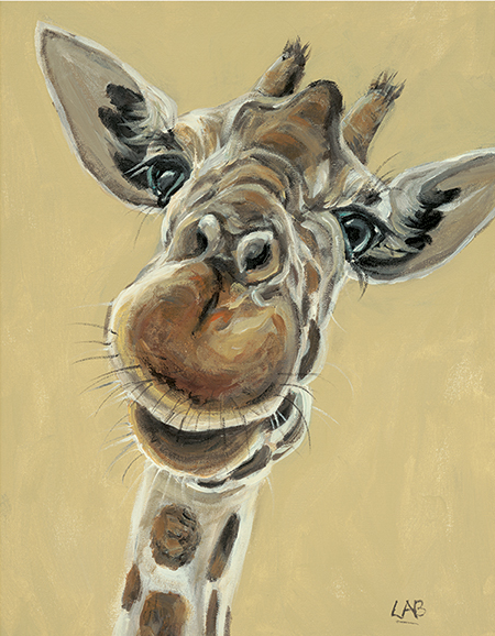 Hey you down there - Louise Brown / Print size: 320 x 410 mm