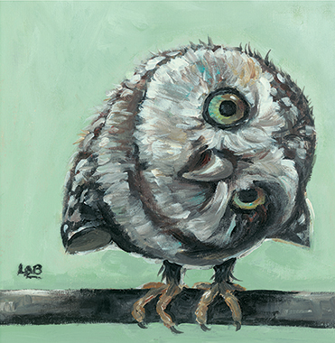 Little Owl - Louise Brown / Print size: 155 x 160 mm