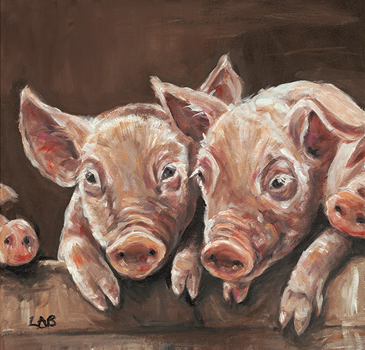 Oink - Louise Brown / Print size: 295 x 295 mm