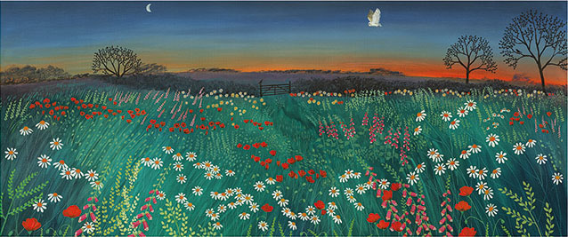 Art Print - Jo Grundy (Twilight Meadow) / Print size: 870 x 350 mm