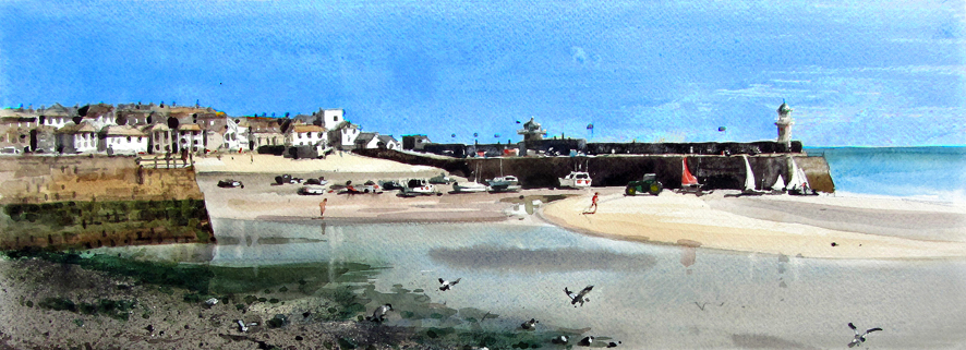 St Ives - Iain McKay / Print size: 450 x 225 mm