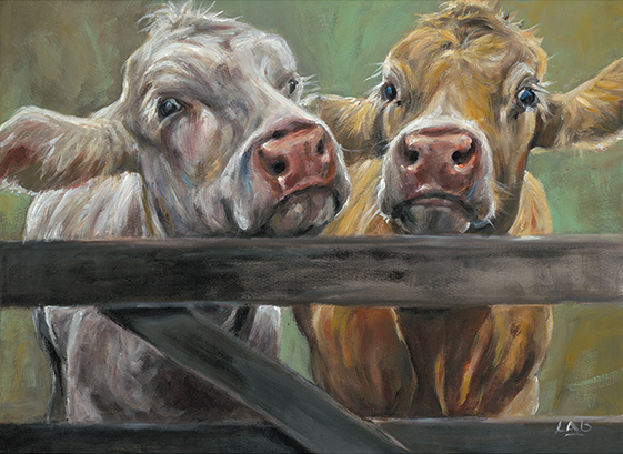 Two Moos - Louise Brown / Print size: 420 x 310 mm