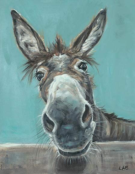 Well Hello There - Louise Brown / Print size: 320 x 410 mm