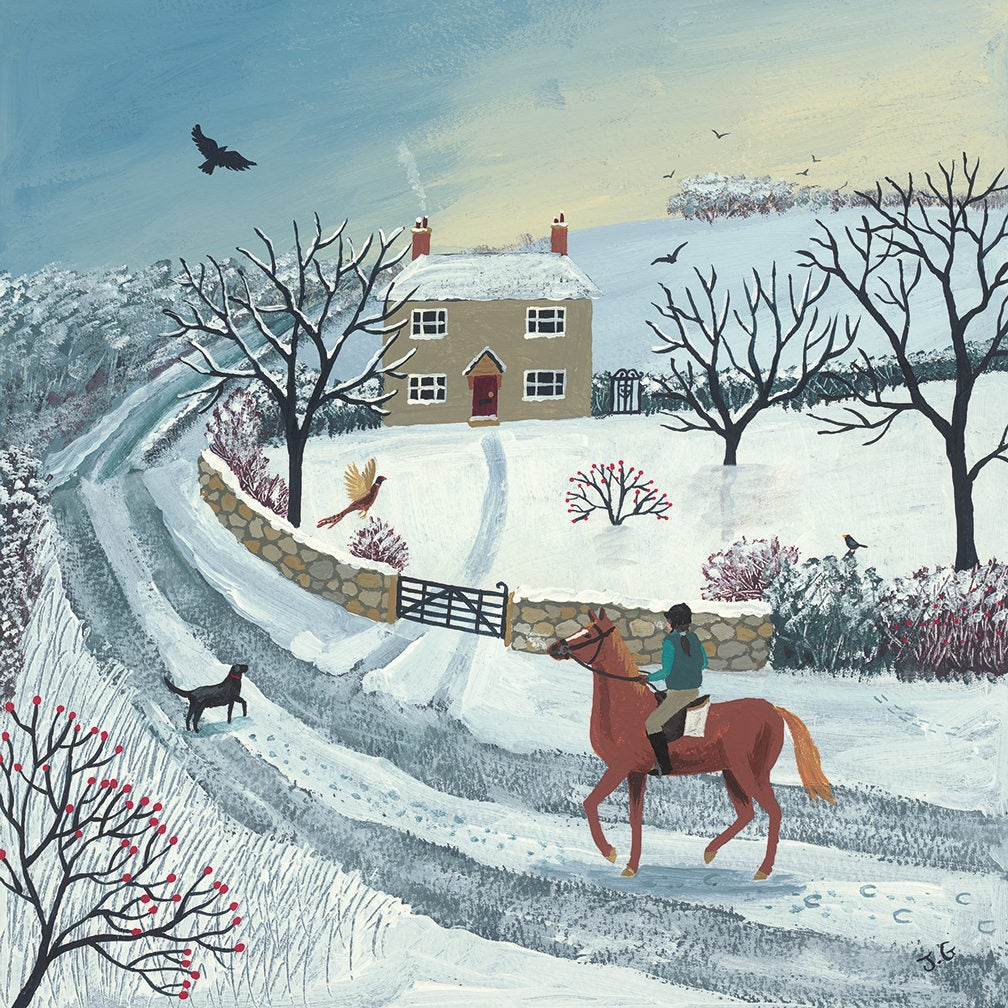 Jo Grundy - A winter ride / Print size: 300 x 290 mm