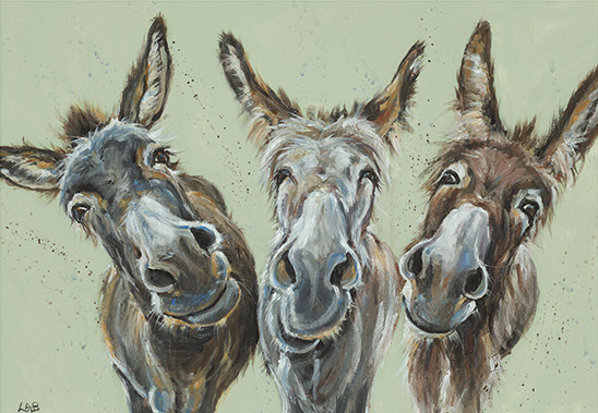 Wise Asses - Louise Brown / Print size: 420 x 310 mm