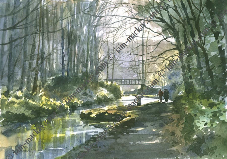 On Cromford Canal - Iain McKay / Print size: 395 x 285 mm